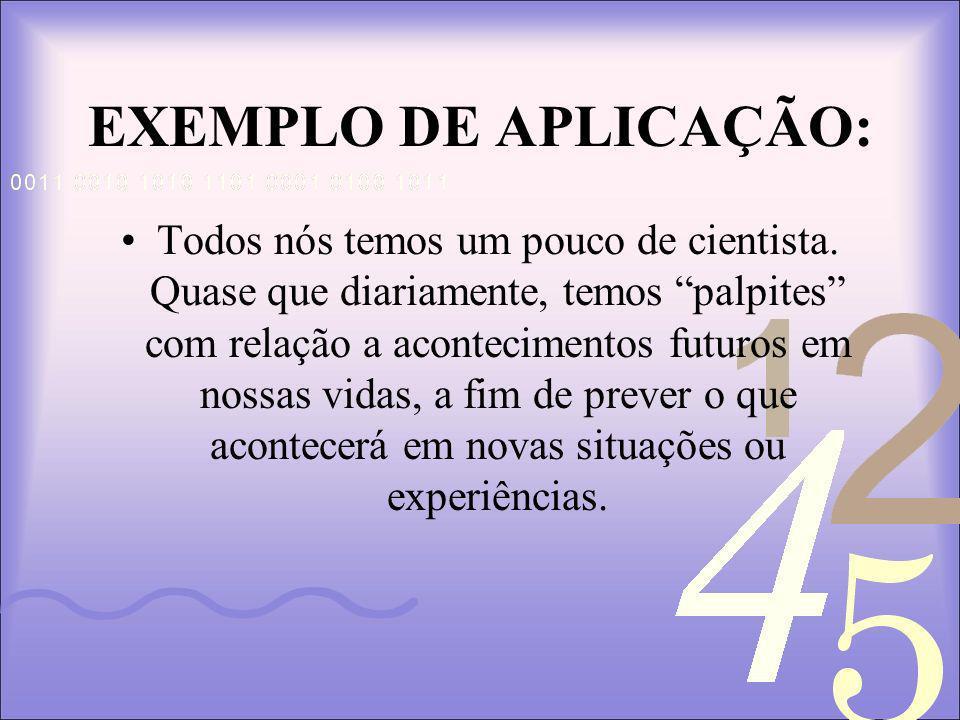 EXEMPLO DE APLICAÇÃO: