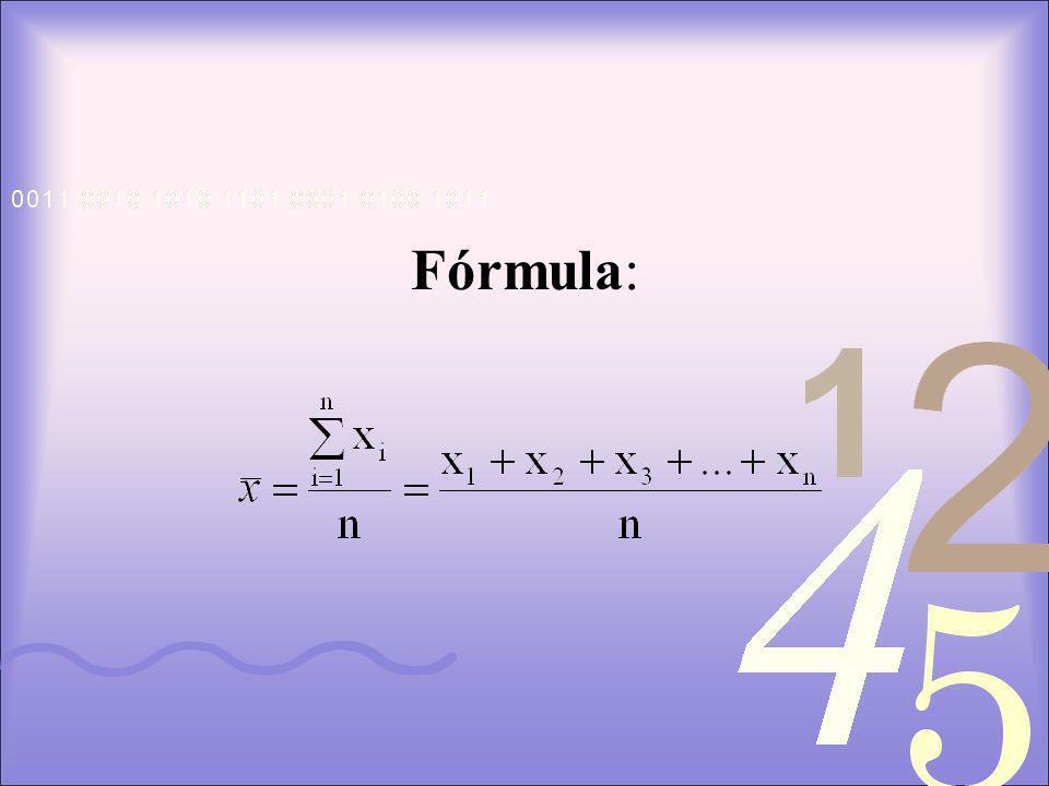 Fórmula: