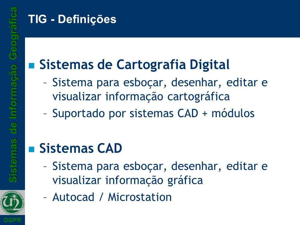 Sistemas de Cartografia Digital