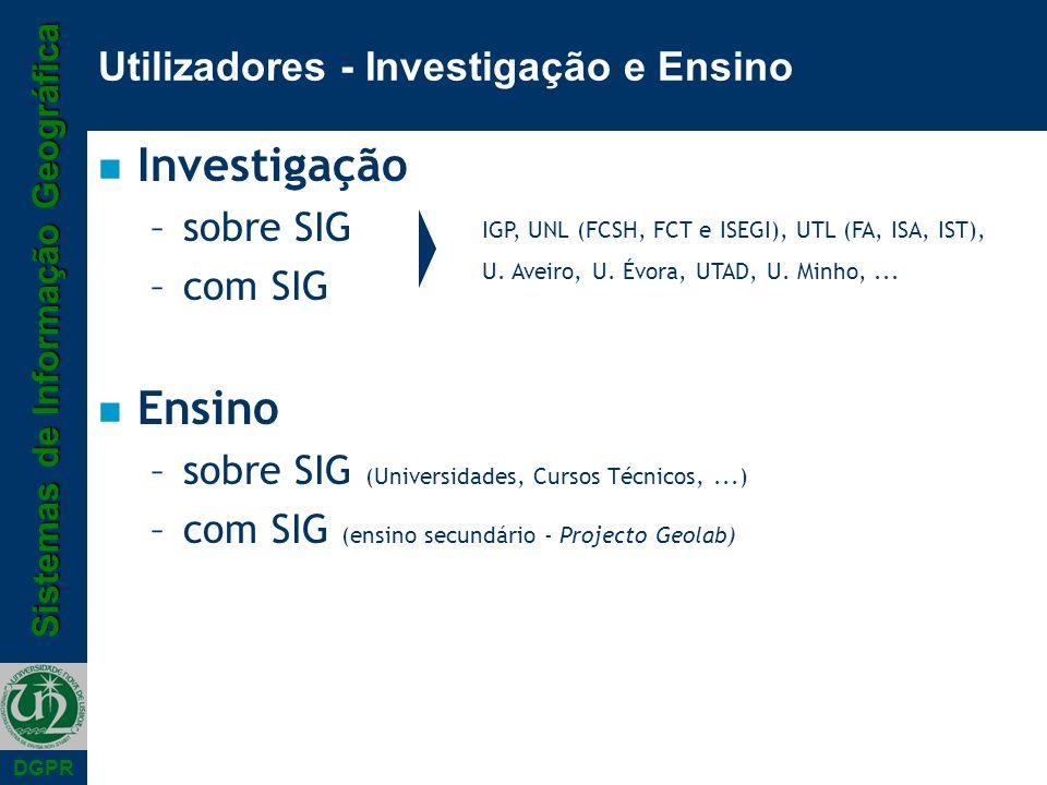 Utilizadores - Investigação e Ensino