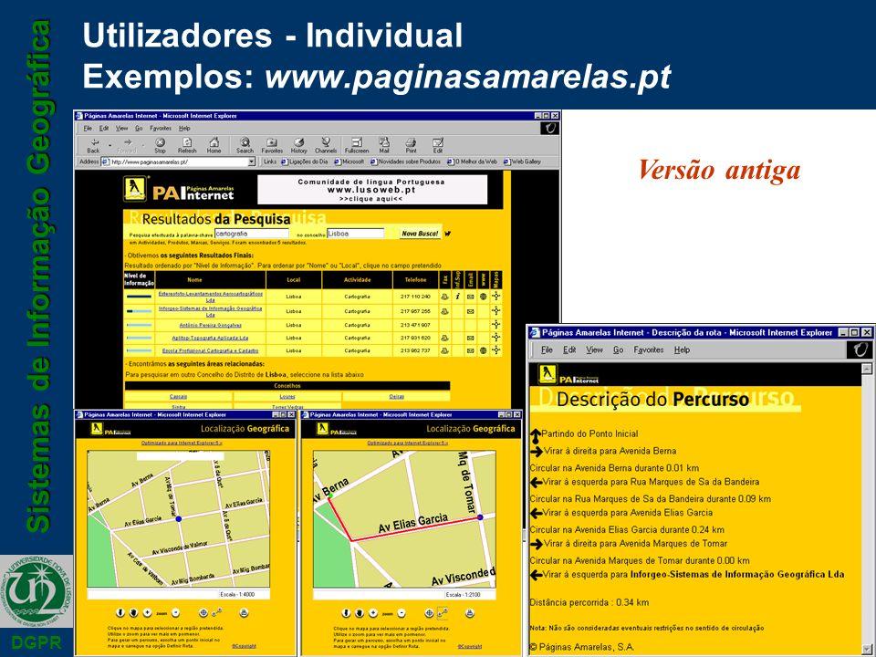 Utilizadores - Individual Exemplos: www.paginasamarelas.pt
