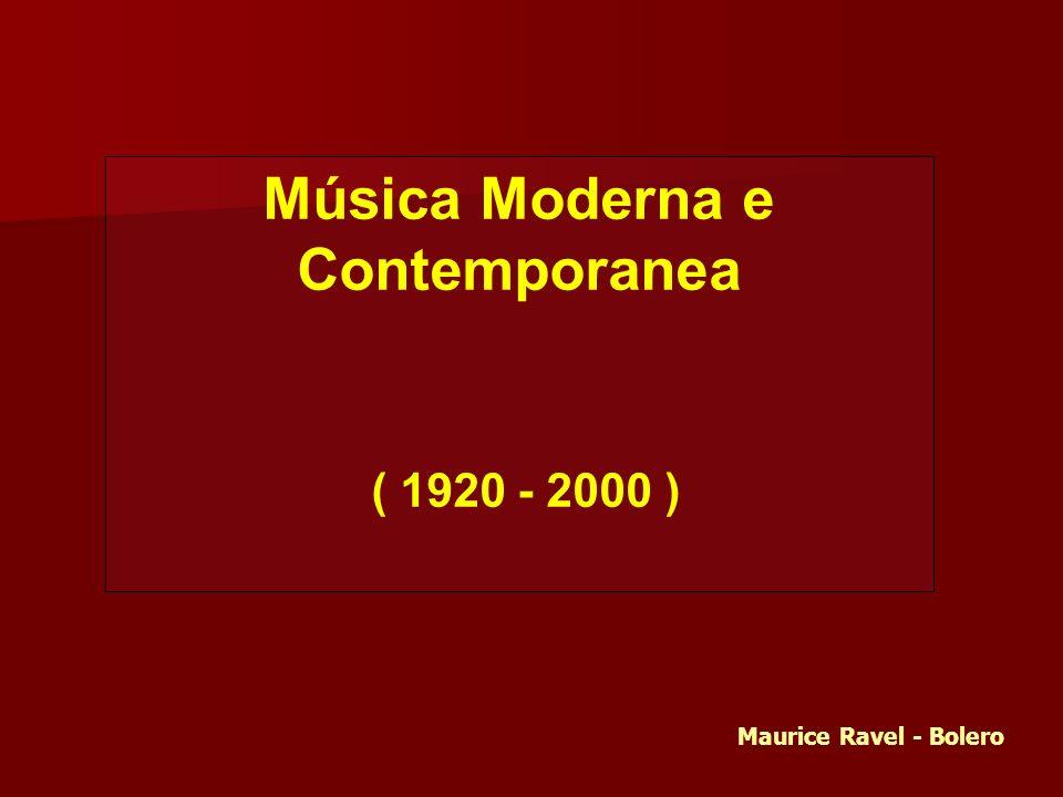 Música Moderna e Contemporanea