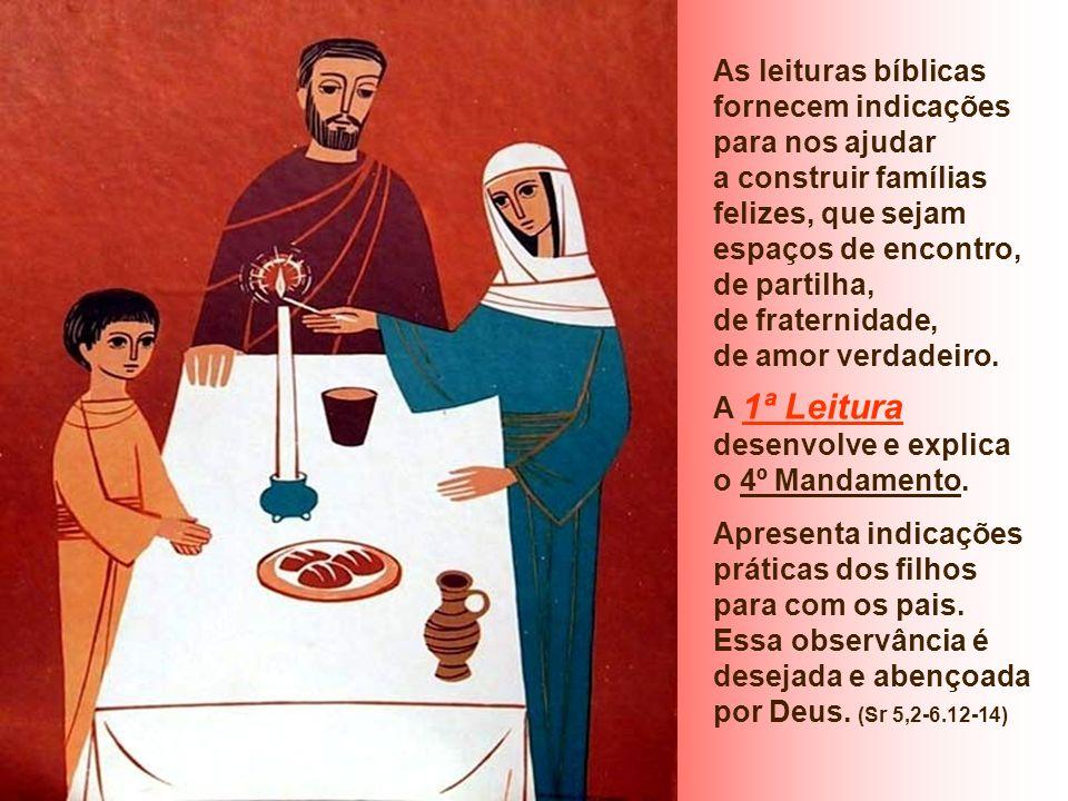 As leituras bíblicas fornecem indicações