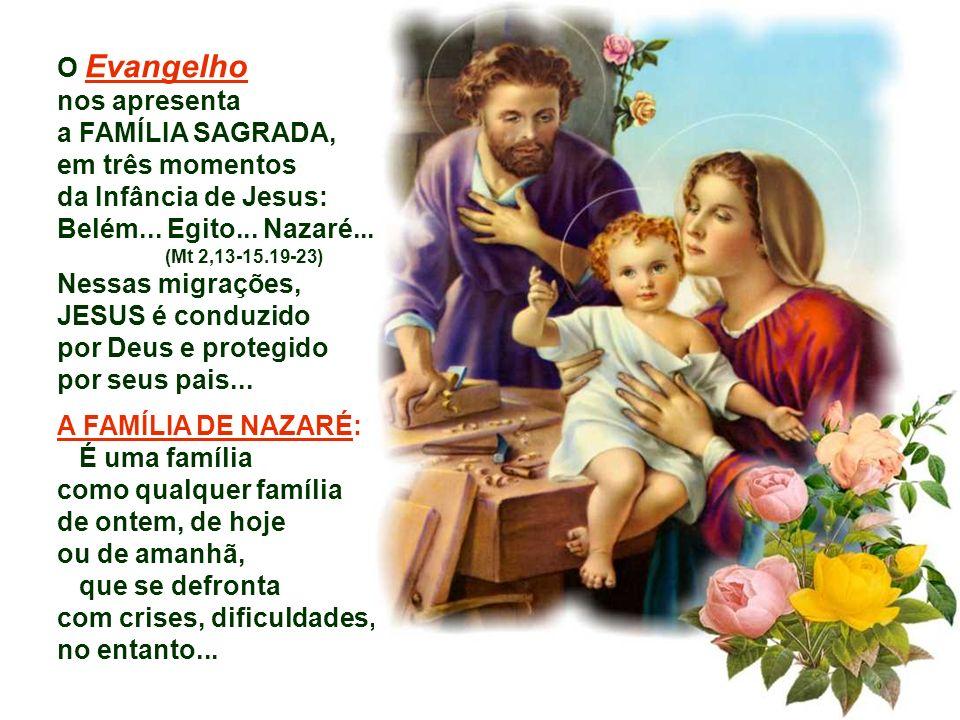 Nessas migrações, JESUS é conduzido por Deus e protegido