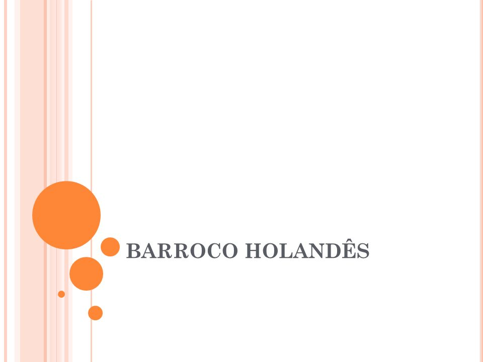 BARROCO HOLANDÊS