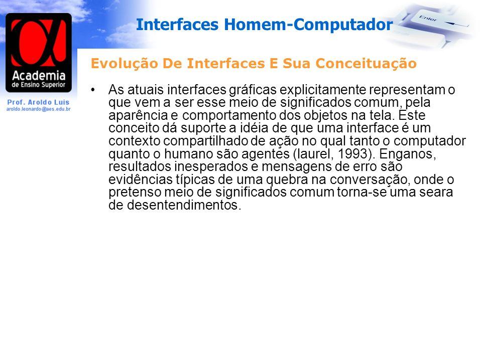 Evolução De Interfaces E Sua Conceituação