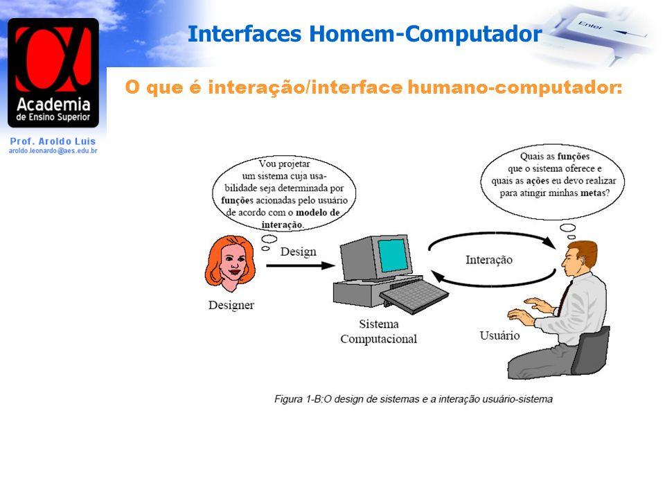 O que é interação/interface humano-computador: