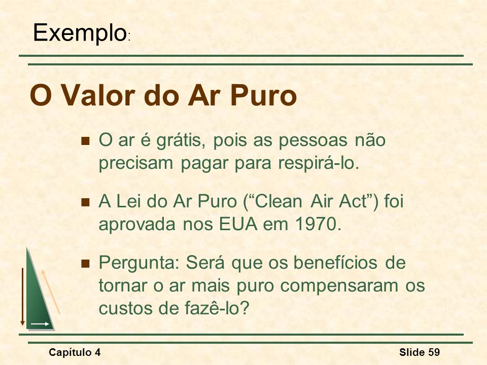 O Valor do Ar Puro Exemplo: