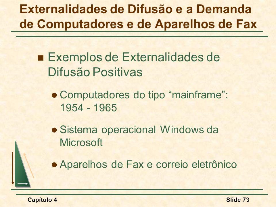 Exemplos de Externalidades de Difusão Positivas