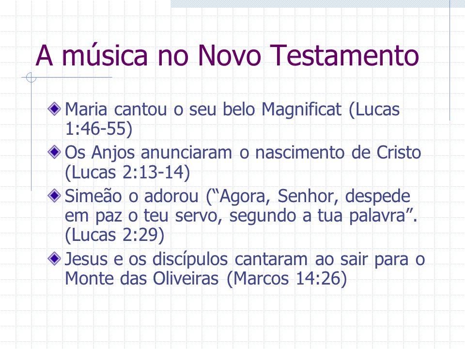A música no Novo Testamento