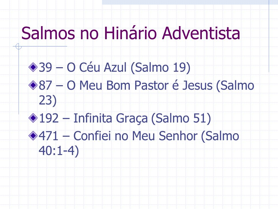 Salmos no Hinário Adventista