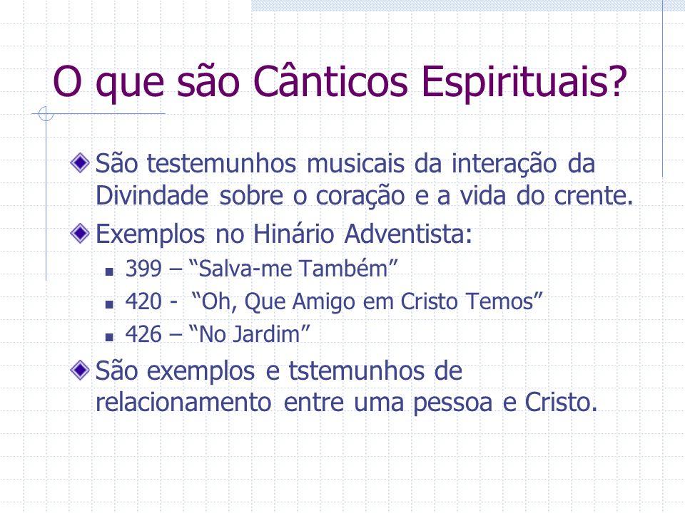 O que são Cânticos Espirituais