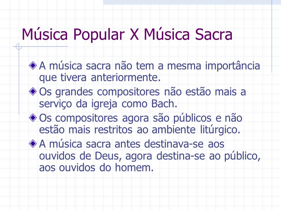 Música Popular X Música Sacra