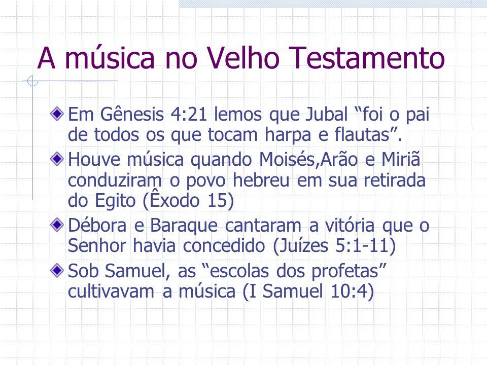 A música no Velho Testamento