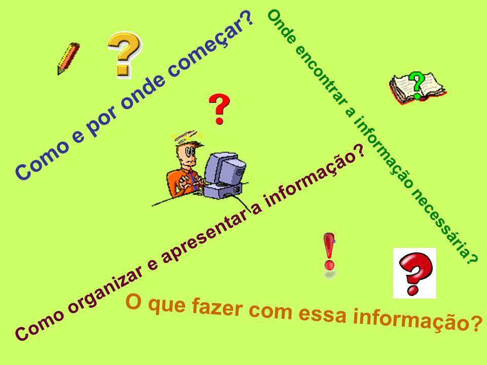 Como organizar e apresentar a informação