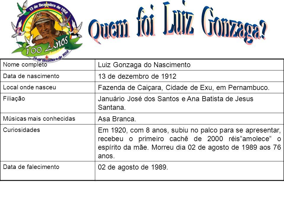 Quem foi Luiz Gonzaga Luiz Gonzaga do Nascimento