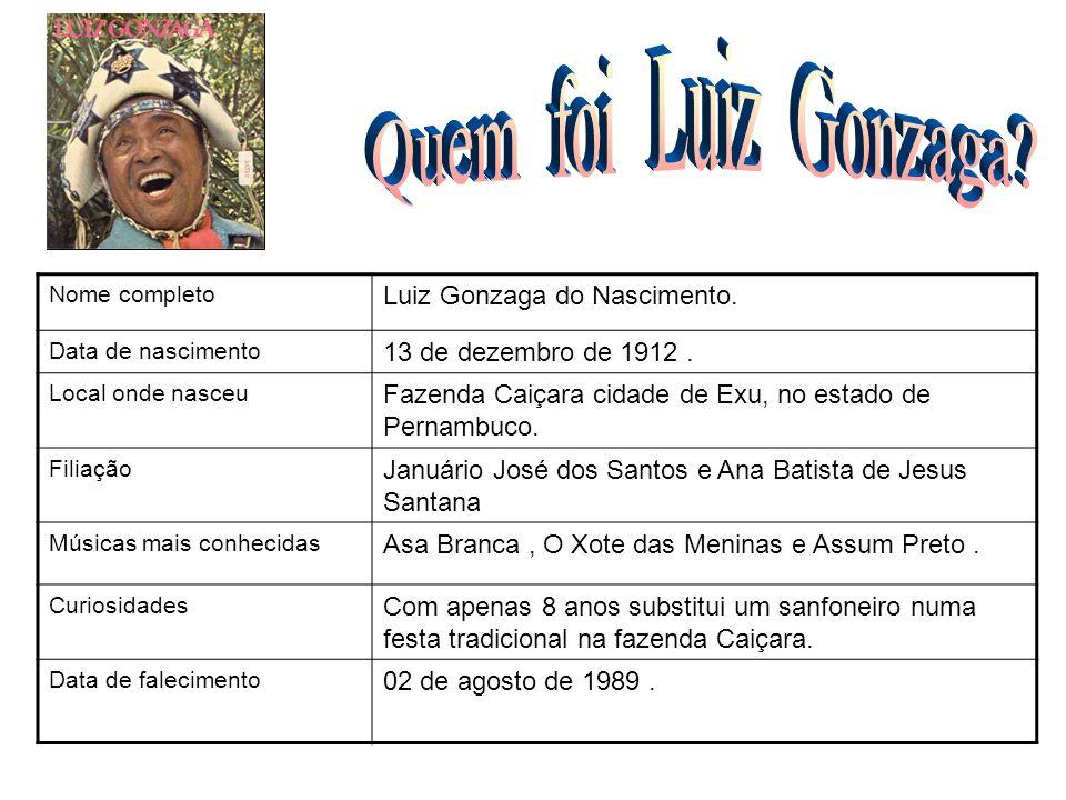 Quem foi Luiz Gonzaga FOTO Luiz Gonzaga do Nascimento.