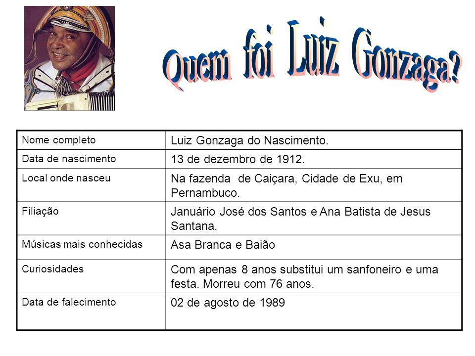 Quem foi Luiz Gonzaga Luiz Gonzaga do Nascimento.