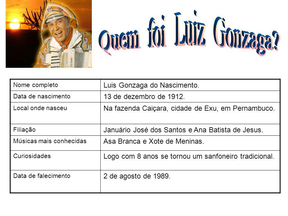 Quem foi Luiz Gonzaga FOTO Luis Gonzaga do Nascimento.