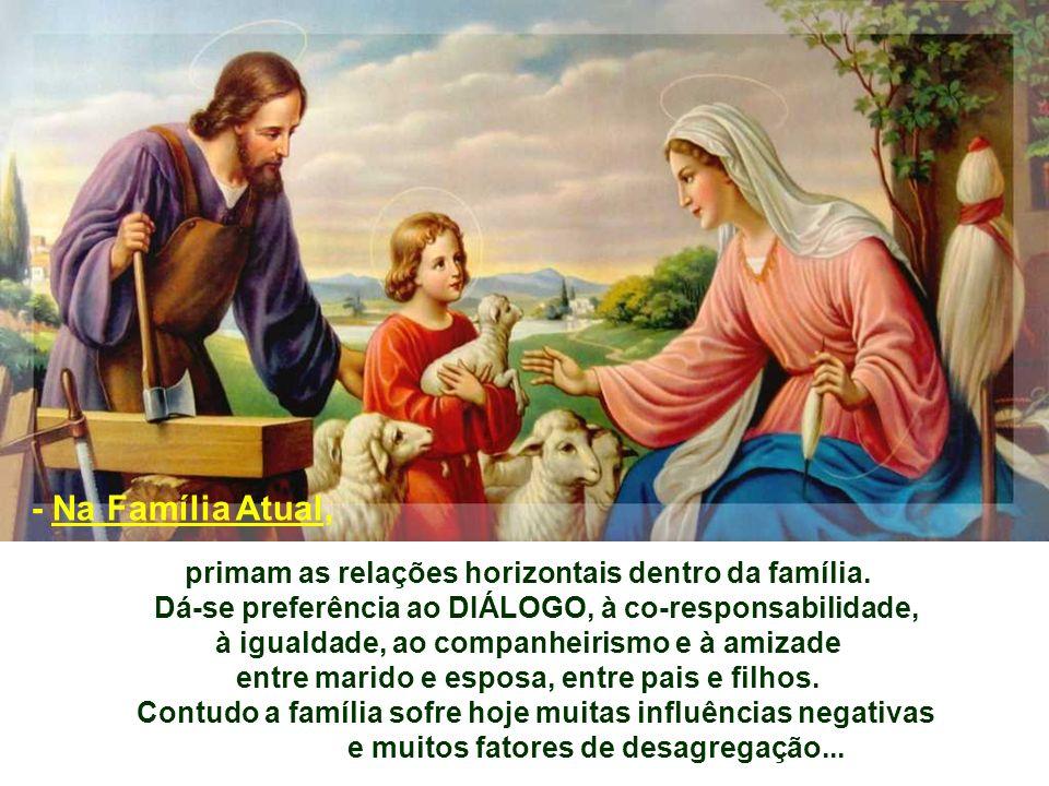 - Na Família Atual, primam as relações horizontais dentro da família.