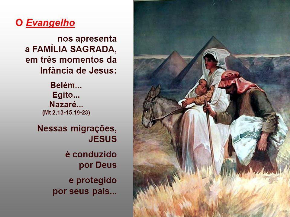 O Evangelho nos apresenta a FAMÍLIA SAGRADA,