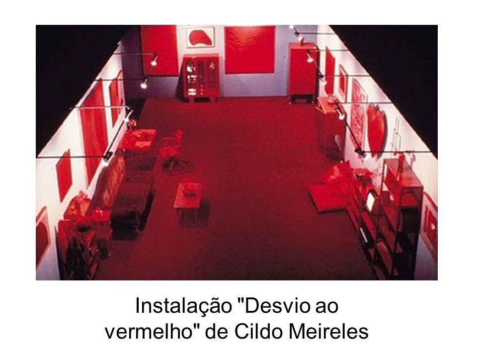 Instalação Desvio ao vermelho de Cildo Meireles