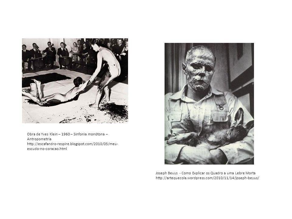 Obra de Yves Klein – 1960 – Sinfonia monótona – Antropometria