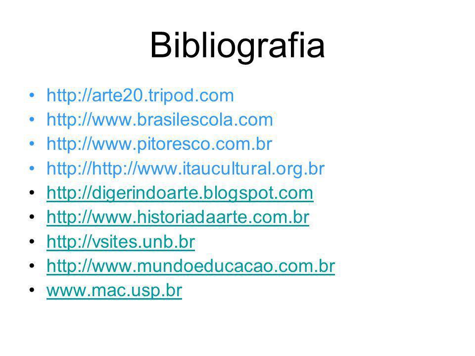 Bibliografia http://arte20.tripod.com http://www.brasilescola.com