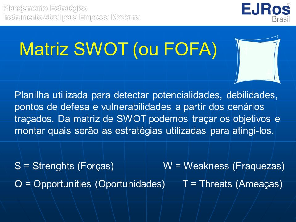 Matriz SWOT (ou FOFA)