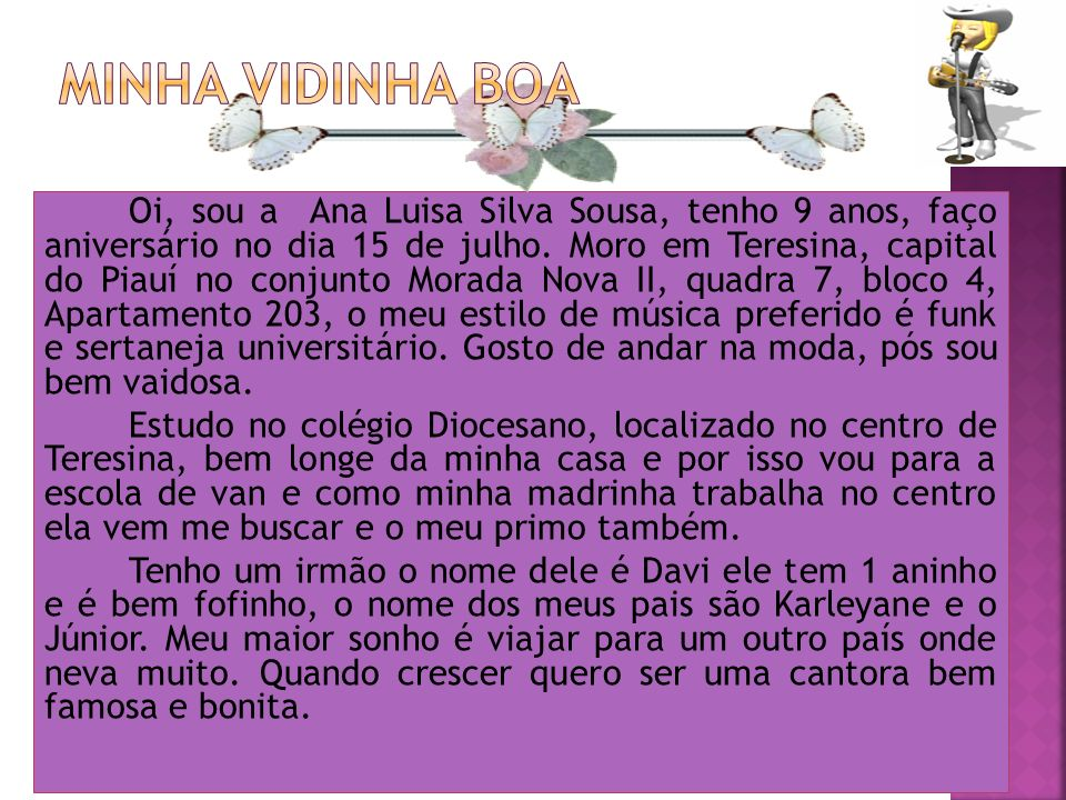 MINHA VIDINHA BOA