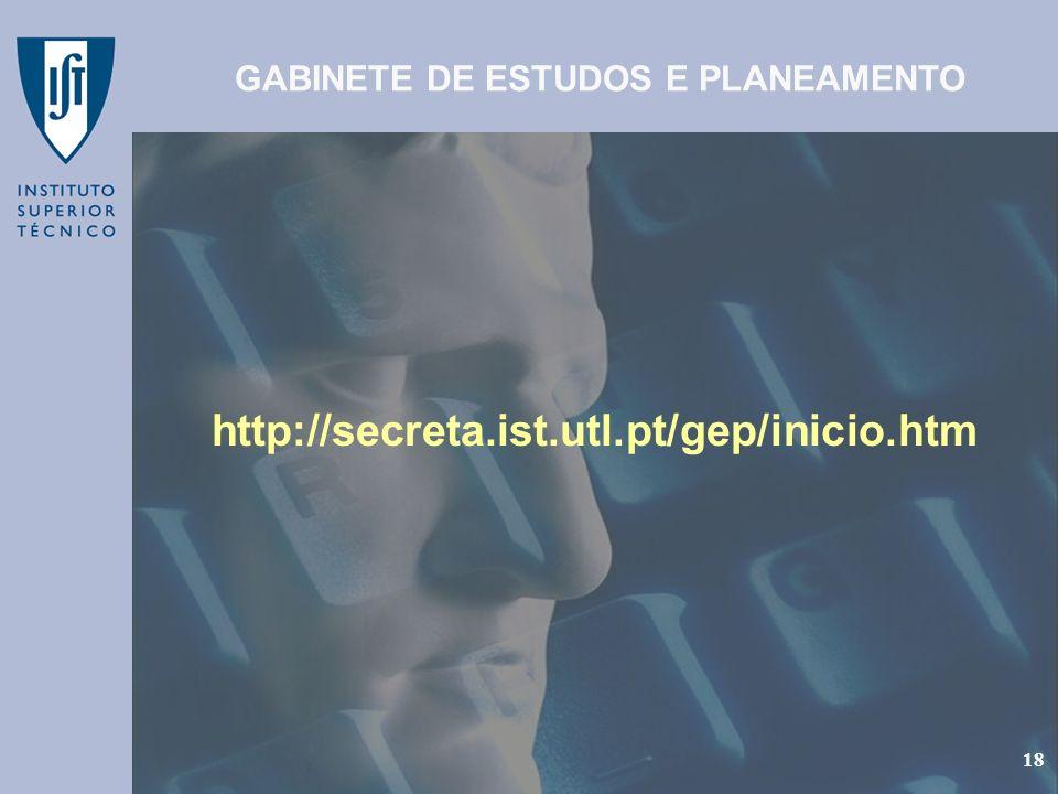 GABINETE DE ESTUDOS E PLANEAMENTO