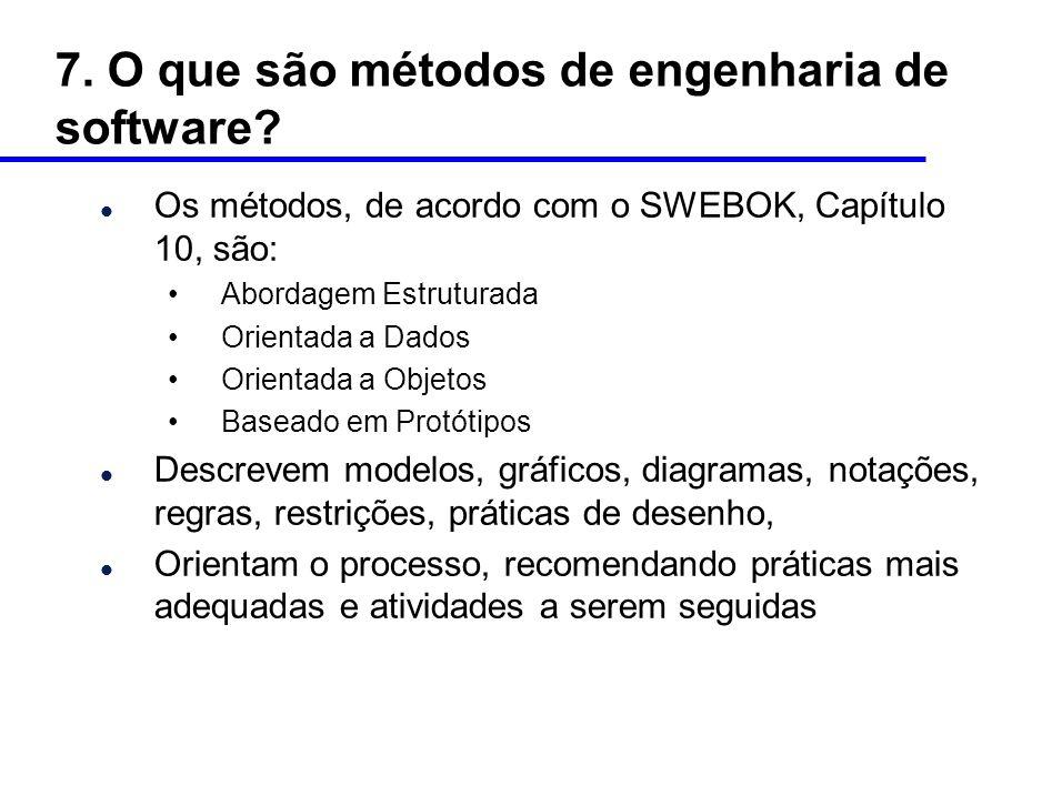 7. O que são métodos de engenharia de software