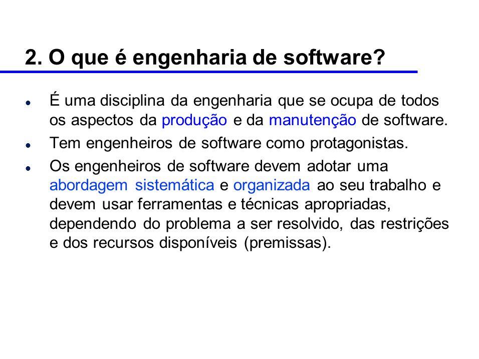 2. O que é engenharia de software