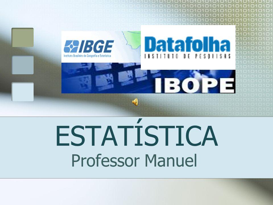 ESTATÍSTICA Professor Manuel