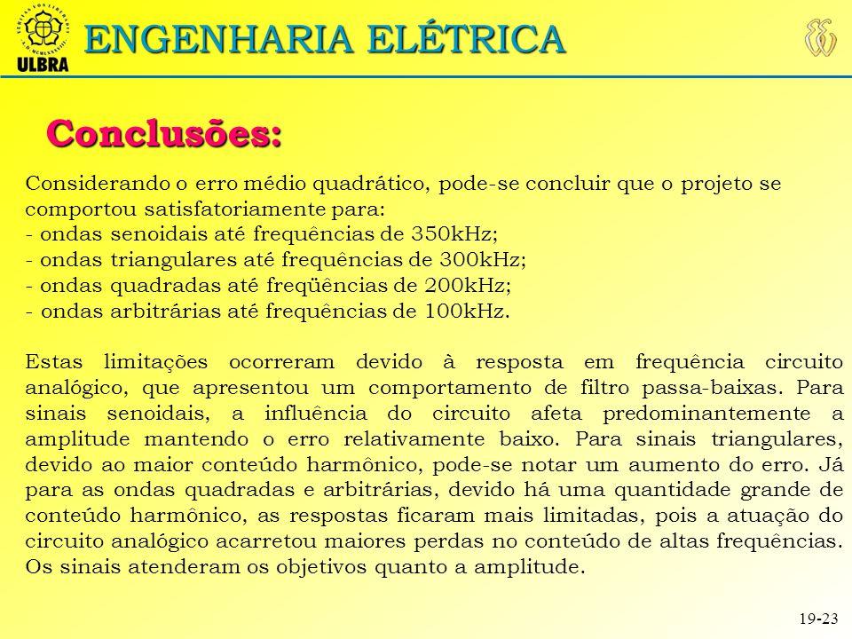 ENGENHARIA ELÉTRICA Conclusões: