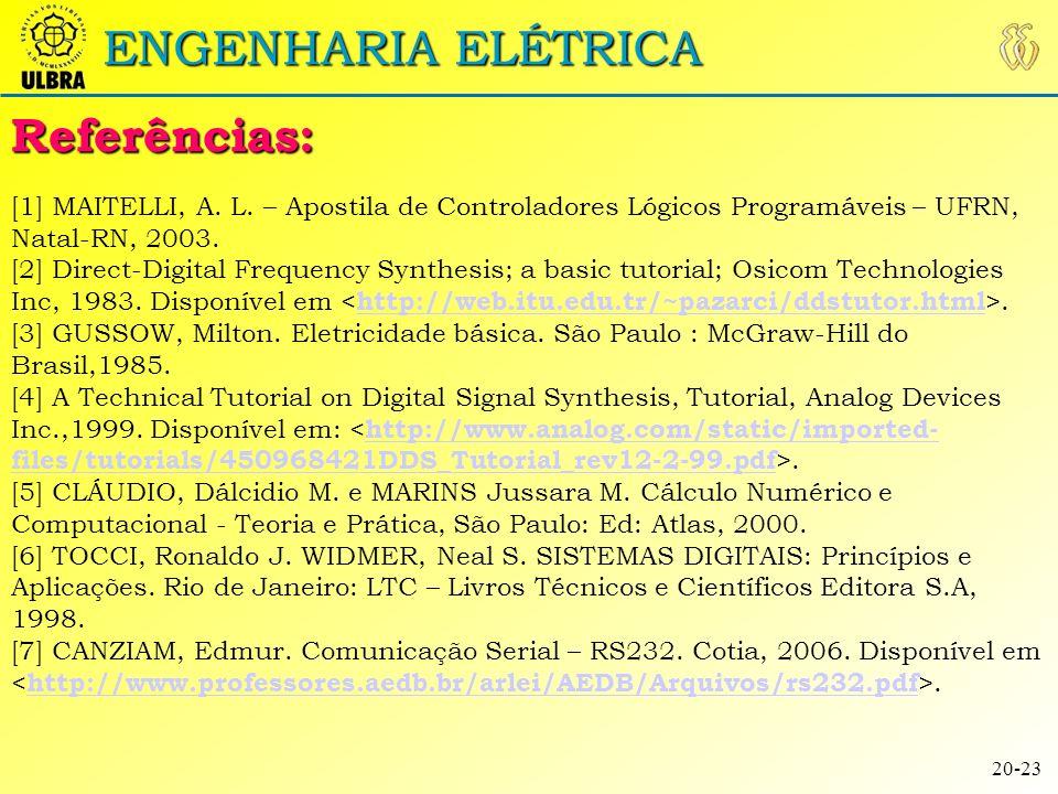 Referências: ENGENHARIA ELÉTRICA