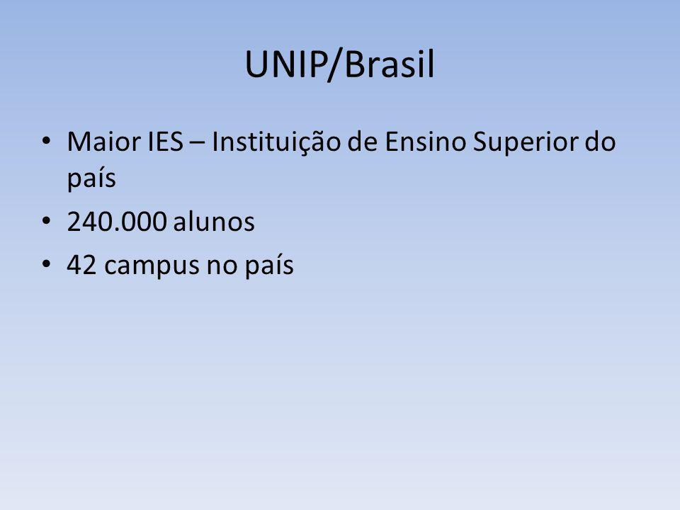 UNIP/Brasil Maior IES – Instituição de Ensino Superior do país