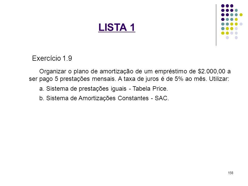 LISTA 1 Exercício 1.9.