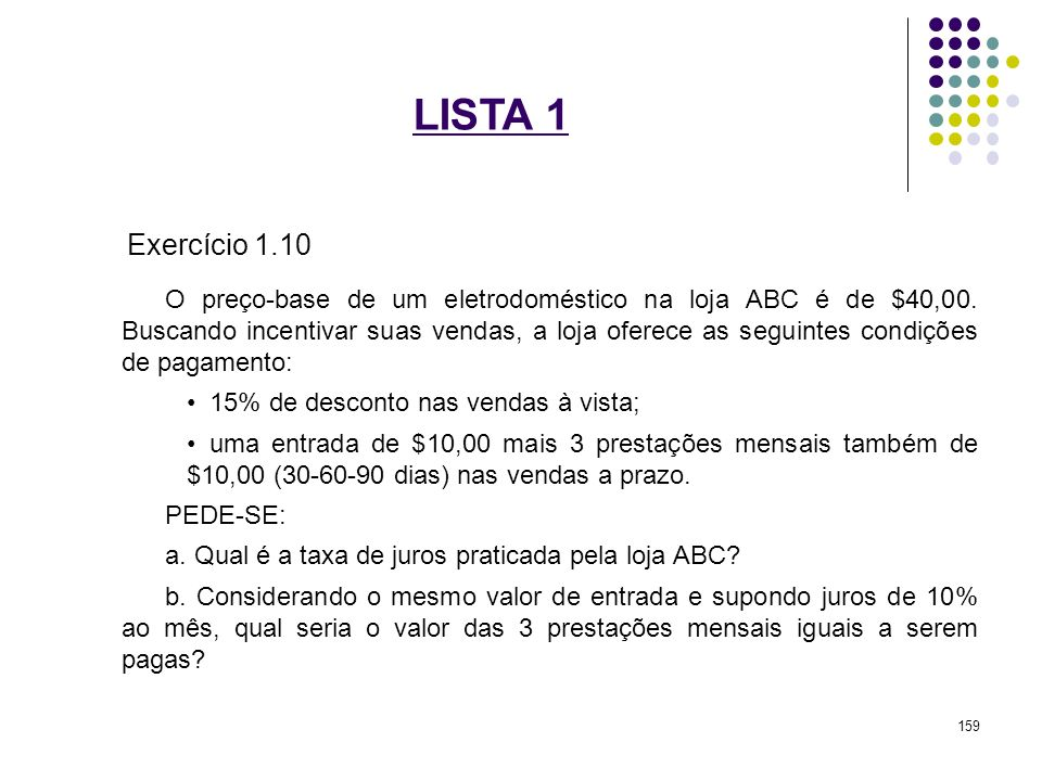 LISTA 1 Exercício 1.10.