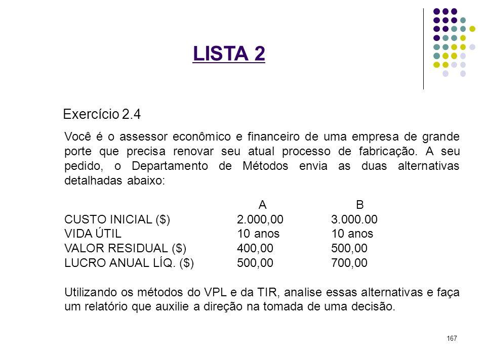 LISTA 2 Exercício 2.4.