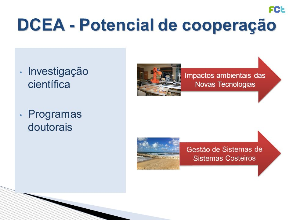 DCEA - Potencial de cooperação