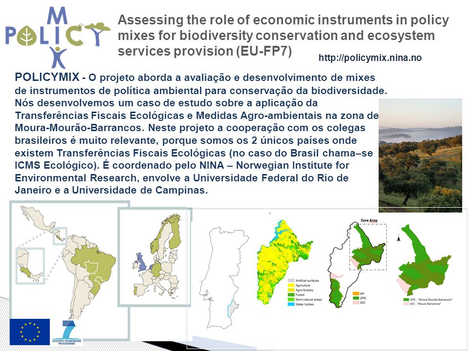 Assessing the role of economic instruments in policy mixes for biodiversity conservation and ecosystem services provision (EU-FP7)