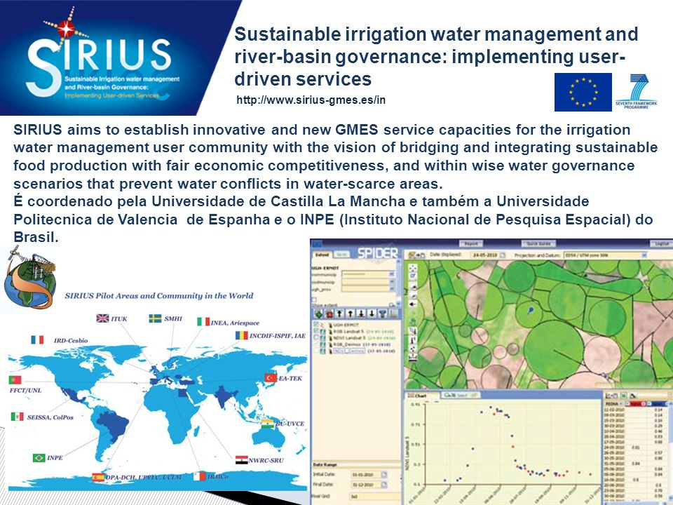 Sustainable irrigation water management and river-basin governance: implementing user-driven services