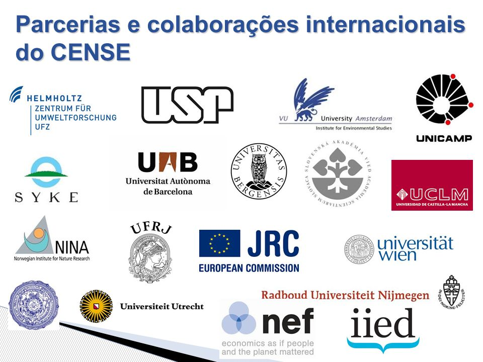 Parcerias e colaborações internacionais do CENSE