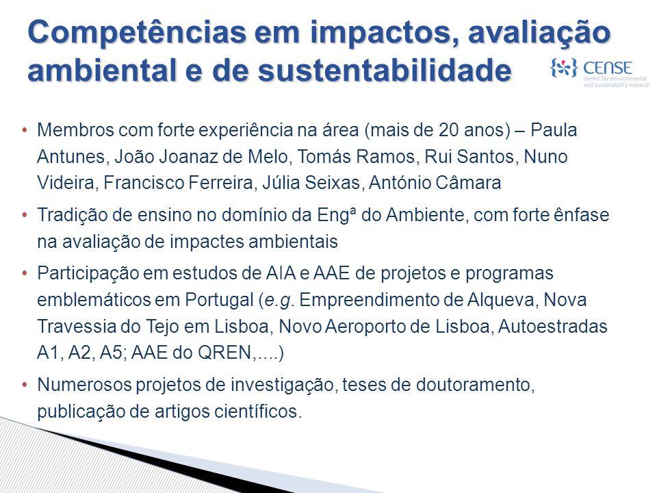Competências em impactos, avaliação ambiental e de sustentabilidade