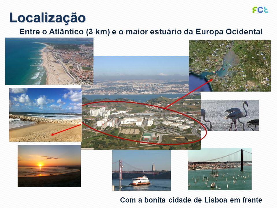 Localização Entre o Atlântico (3 km) e o maior estuário da Europa Ocidental.