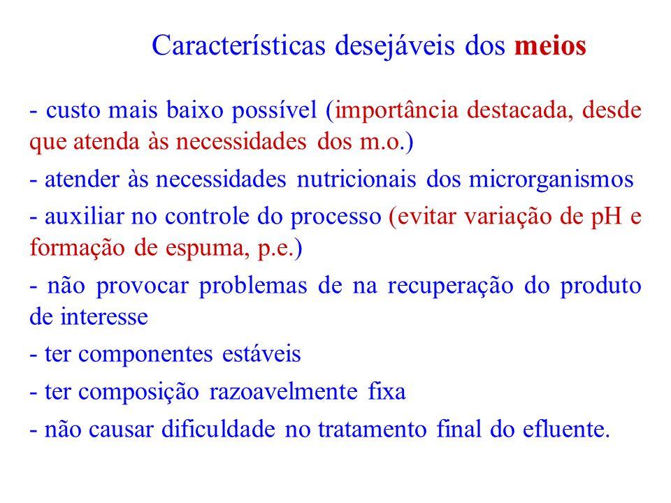Características desejáveis dos meios