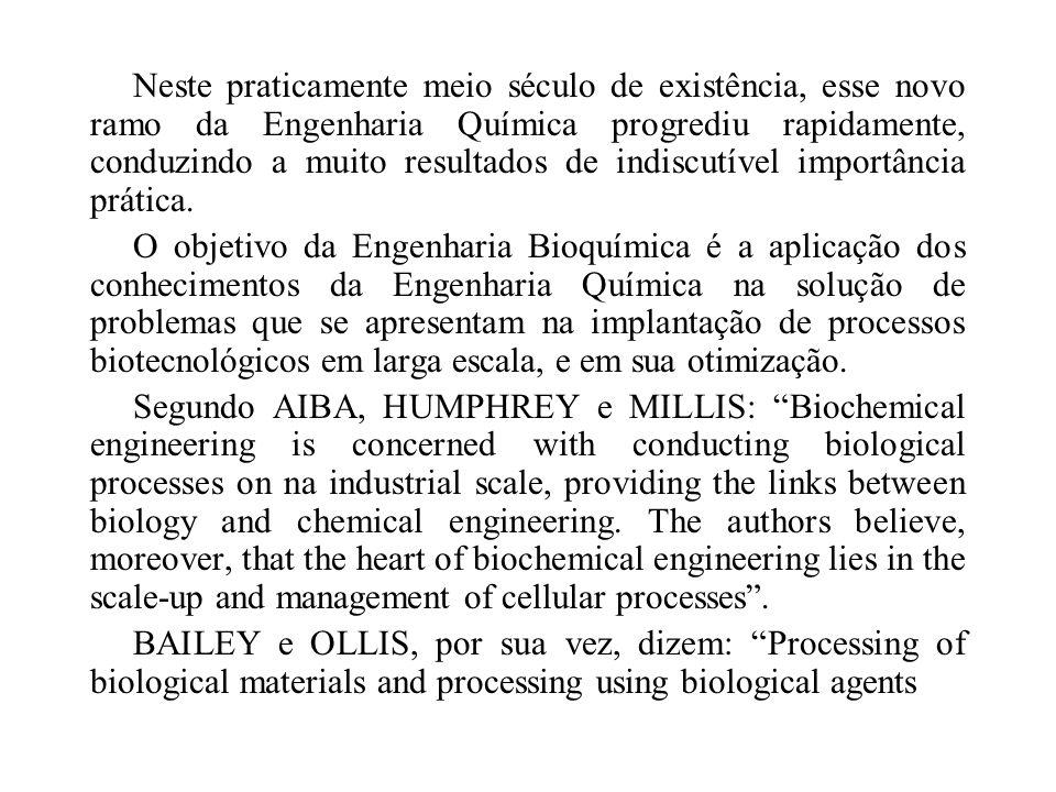 Neste praticamente meio século de existência, esse novo ramo da Engenharia Química progrediu rapidamente, conduzindo a muito resultados de indiscutível importância prática.