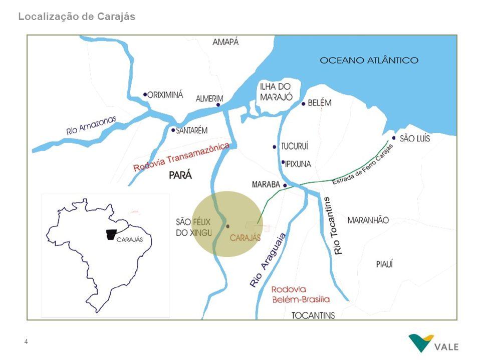 Minas de Carajás – vista superior
