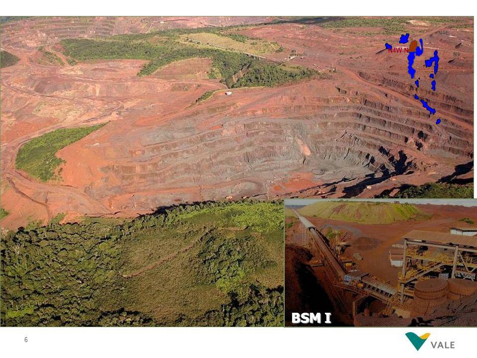 Visão 3D do corpo mineral de Carajás